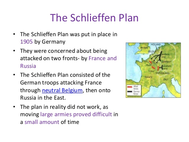the schlieffen plan failed because germany To what extent did the failure of the schlieffen plan cause germany's germany lost the war mainly though because they failed the schlieffen plan was a.